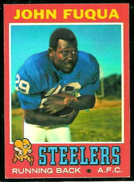 John Fuqua 1971 Topps football card