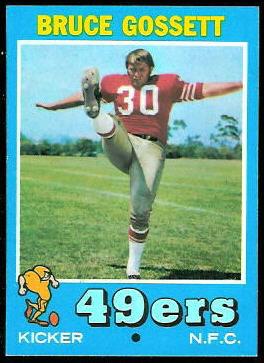 Bruce Gossett 1971 Topps football card