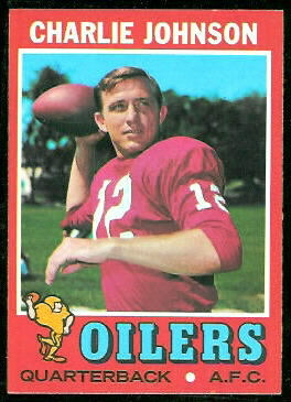 Charley Johnson 1971 Topps football card