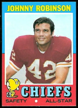 Johnny Robinson 1971 Topps football card