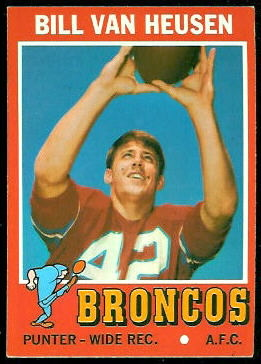 Bill Van Heusen 1971 Topps football card