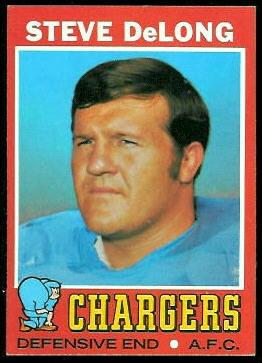 Steve DeLong 1971 Topps football card