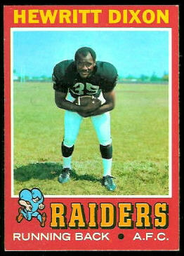 Hewritt Dixon 1971 Topps football card