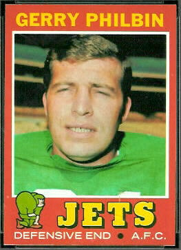 Gerry Philbin 1971 Topps football card