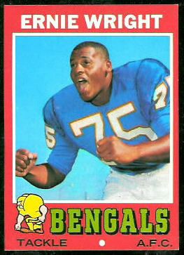 Ernie Wright 1971 Topps football card