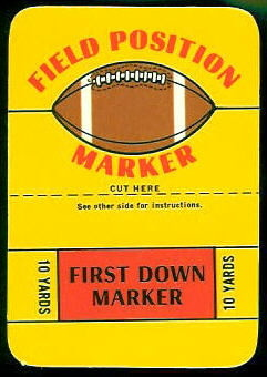 Field Position Marker 1971 Topps Game football card
