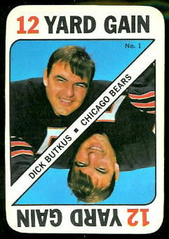 Dick Butkus 1971 Topps Game football card