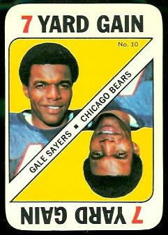 Gale Sayers 1971 Topps Game football card