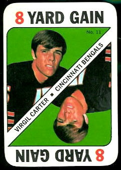 Virgil Carter 1971 Topps Game football card