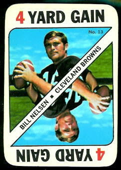 Bill Nelsen 1971 Topps Game football card
