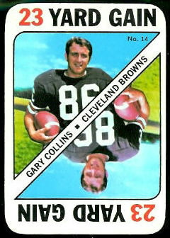 Gary Collins 1971 Topps Game football card
