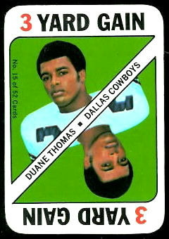 Duane Thomas 1971 Topps Game football card