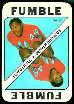 Floyd Little 1971 Topps Game football card