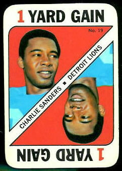 Charlie Sanders 1971 Topps Game football card