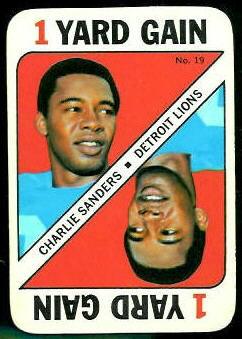 Charlie Sanders 1971 Topps Game football card