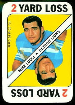 Mike Lucci 1971 Topps Game football card