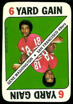 Gene Washington 1971 Topps Game football card