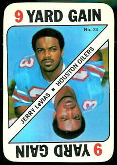 Jerry LeVias 1971 Topps Game football card