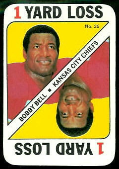 Bobby Bell 1971 Topps Game football card