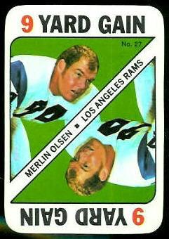 Merlin Olsen 1971 Topps Game football card
