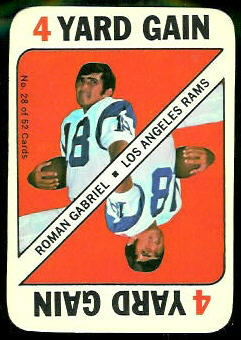 Roman Gabriel 1971 Topps Game football card