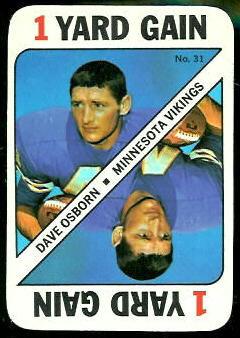 Dave Osborn 1971 Topps Game football card