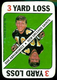 Dan Abramowicz 1971 Topps Game football card