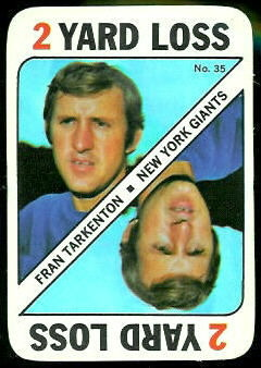 Fran Tarkenton 1971 Topps Game football card