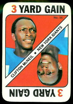 Clifton McNeil 1971 Topps Game football card