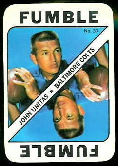 John Unitas 1971 Topps Game football card