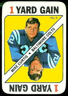 Mike Curtis 1971 Topps Game football card