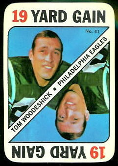 Tom Woodeshick 1971 Topps Game football card