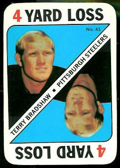 Terry Bradshaw 1971 Topps Game football card
