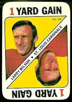 Larry Wilson 1971 Topps Game football card