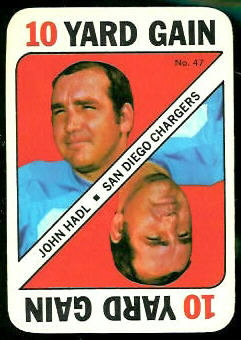 John Hadl 1971 Topps Game football card