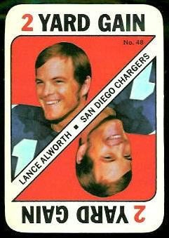 Lance Alworth 1971 Topps Game football card