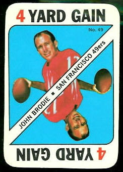 John Brodie 1971 Topps Game football card