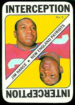 Jim Nance 1971 Topps Game football card