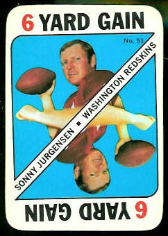 Sonny Jurgensen 1971 Topps Game football card