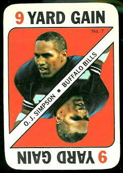 O.J. Simpson 1971 Topps Game football card