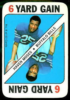 Haven Moses 1971 Topps Game football card