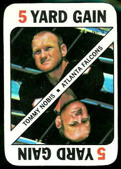 Tommy Nobis 1971 Topps Game football card