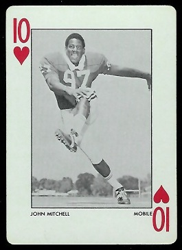 John Mitchell 1972 Alabama Playing Cards football card