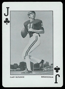 Gary Rutledge 1972 Alabama Playing Cards football card