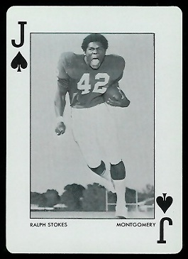 Ralph Stokes 1972 Alabama Playing Cards football card