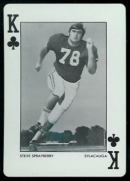 Steve Sprayberry 1972 Alabama Playing Cards football card