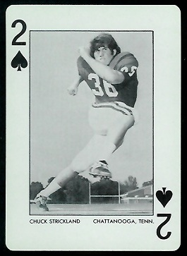 Chuck Strickland 1972 Alabama Playing Cards football card