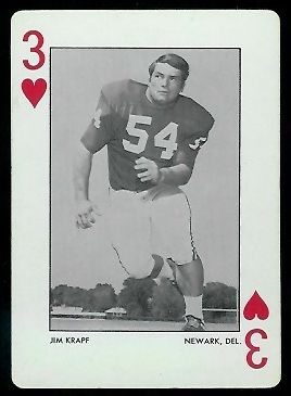 Jim Krapf 1972 Alabama Playing Cards football card