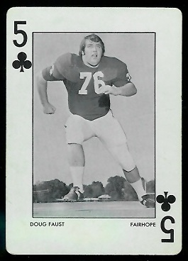 Doug Faust 1972 Alabama Playing Cards football card