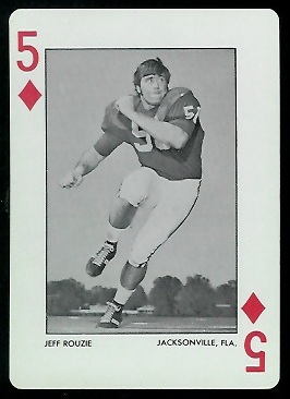 Jeff Rouzie 1972 Alabama Playing Cards football card